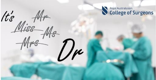 RACS phases out gendered titles for surgeons